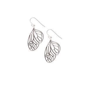 Sterling Silver Fairy Wing Earrings 5.45g