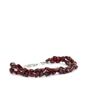 Rajasthan Garnet Bracelet in Sterling Silver 74.15cts