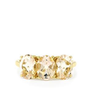 Mutala Morganite Ring in 9K Gold 3.17cts