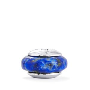 9.55ct Sar-i-Sang Lapis Lazuli Sterling Silver Kama Wheel Charm