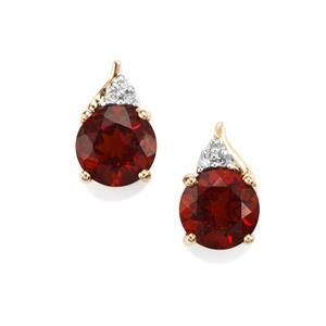 Madeira Citrine & Diamond 10K Gold Earrings ATGW 2.23cts