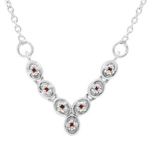 1/20ct Red Diamond Sterling Silver Necklace