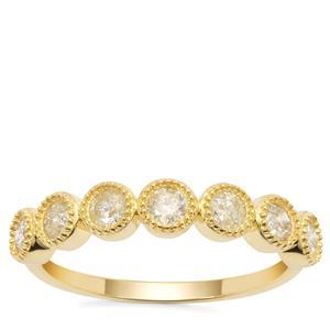 Yellow Diamond Ring in 9K Gold 0.55ct