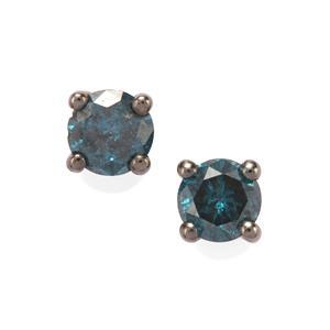 1/3ct Blue Diamond 10K Gold Earrings