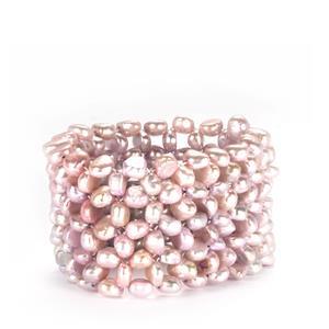 Kaori Cultured Pearl Elastic Bracelet (8 x 5mm)
