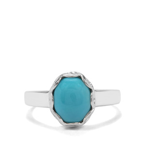 2.38ct Sleeping Beauty Turquoise Sterling Silver Ring
