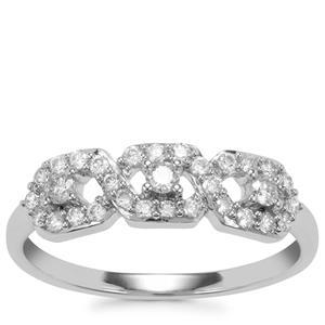 Argyle Diamond Ring in 9K White Gold 0.34ct