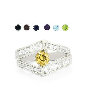 7.91ct Exotic Gem Sterling Silver Interchangeable Ring