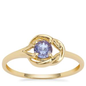 Tanzanite Ring in 9K Gold 0.38ct
