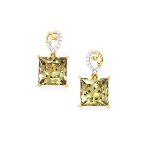 Csarite® & Diamond 18K Gold Lorique Earrings MTGW 11.97cts