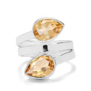 4ct Diamantina Citrine Sterling Silver Aryonna Ring
