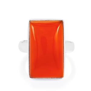 Carnelian Ring in Sterling Silver 15.93cts