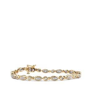 3/4ct Internally Flawless Diamond 18K Gold Tomas Rae Bracelet