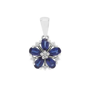Nilamani Pendant with White Zircon in Sterling Silver 1.44cts