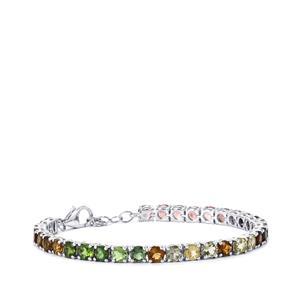 14.77ct Rainbow Tourmaline Sterling Silver Bracelet