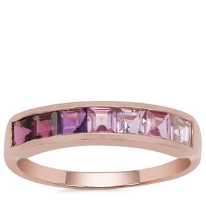 Kaleidoscope Gemstones Ring in 9K Rose Gold 1.50cts