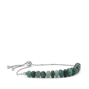 Grandidierite Slider Bead Bracelet in Sterling Silver 28.50cts