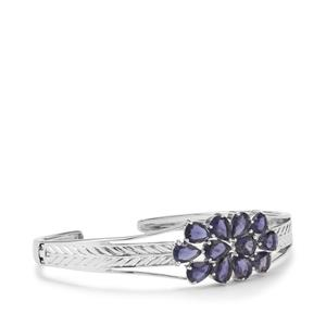 6.46ct Bengal Iolite Sterling Silver Cuff