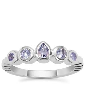 Tanzanite Ring in Sterling Silver 0.61ct