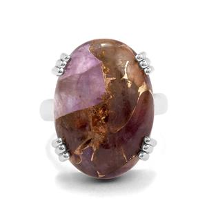 16ct Copper Mojave Amethyst Sterling Silver Aryonna Ring