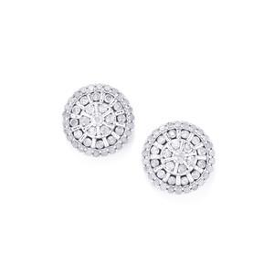 1ct Diamond 10K White Gold Tomas Rae Earrings