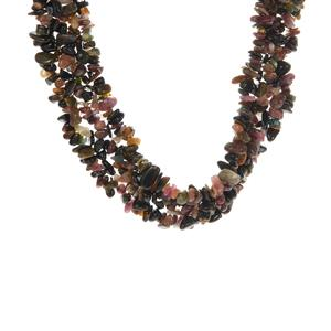 Multi-Colour Tourmaline Necklace in Sterling Silver 812.55cts