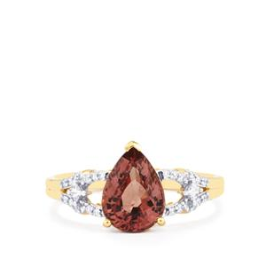 Bekily Colour Change Garnet & Diamond 18K Gold Tomas Rae Ring MTGW 2.33cts