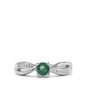 0.40ct Luhlaza Emerald Sterling Silver Ring
