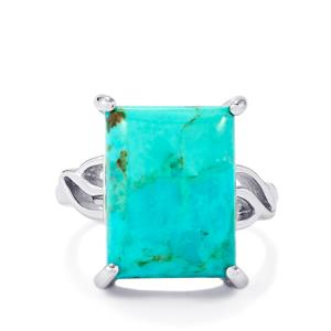 Cochise Turquoise Ring in Sterling Silver 9.95cts
