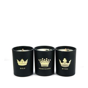 Christmas Candle Set of 3 - We Three Kings with Pyrite ATGW 18cts