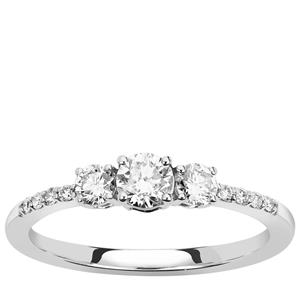 Diamond Ring in Platinum 950 0.52ct