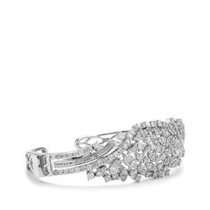 5.10ct Diamond Sterling Silver Cuff
