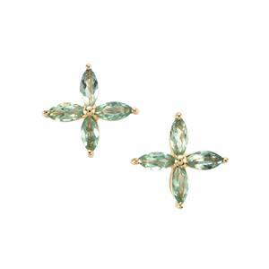 Alexandrite Earrings in 10K Gold 0.62ct