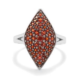 1.10ct Anthill Garnet Sterling Silver Ring