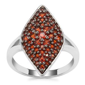 Anthill Garnet Ring in Sterling Silver 1.10cts
