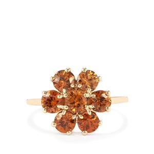 Ratanakiri Cinnamon Zircon Ring in 10k Gold 3.01cts