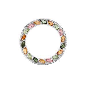 Tutti-Frutti Tourmaline Pendant in Sterling Silver 4.41cts