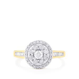 Diamond Ring in 10k Gold 0.76ct