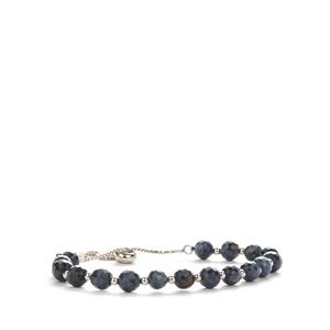 Blue Sapphire Slider Bracelet in Sterling Silver 31.75cts