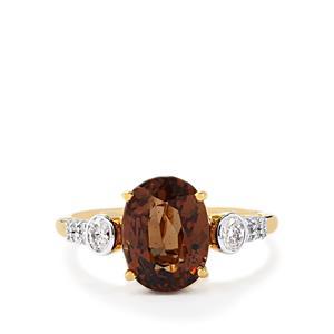 Colour Change Garnet & Diamond 18K Gold Lorique Ring MTGW 4.96cts