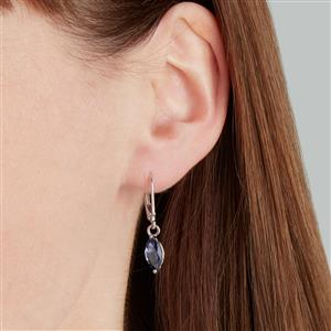 Bengal Iolite Earrings in Sterling Silver 1.57cts