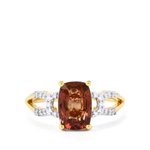 Colour Change Garnet & Diamond 18K Gold Tomas Rae Ring MTGW 2.50cts