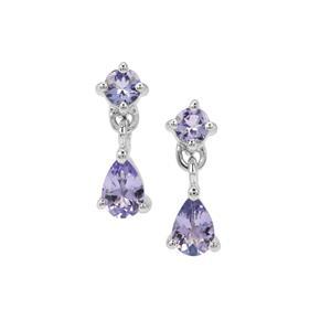 Tanzanite Earrings in Sterling Silver 0.98cts