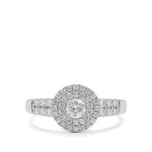 Diamond Ring in Platinum 950 0.69ct