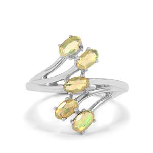 0.69ct Ethiopian Opal Sterling Silver Ring