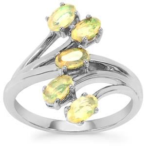 Ethiopian Opal Ring in Sterling Silver 0.69cts