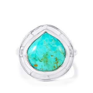7.69ct Cochise Turquoise Sterling Silver Ring