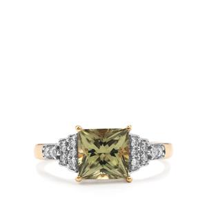 Csarite® Ring with Diamond in 18K Gold 1.92cts