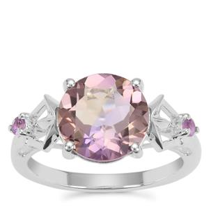 Anahi Ametrine Ring with Ametista Amethyst in Sterling Silver 3.44cts