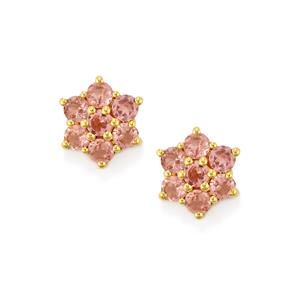 Natural Pink Spinel Earrings in 10k Gold 1.83cts